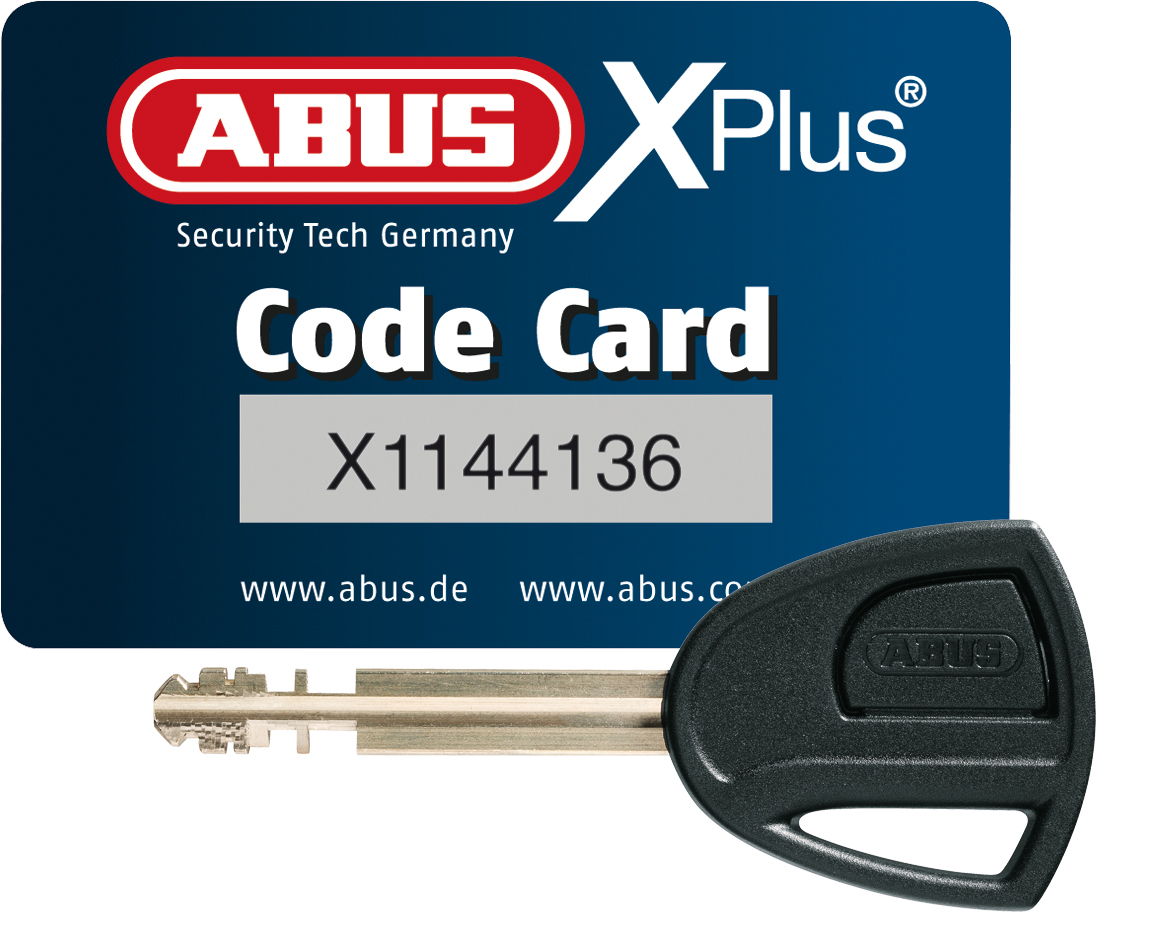 ABUS Granit Power XS 67 10KS Black Loop Red